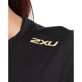 2XU GHST SS Shirt Women, black/gold reflective